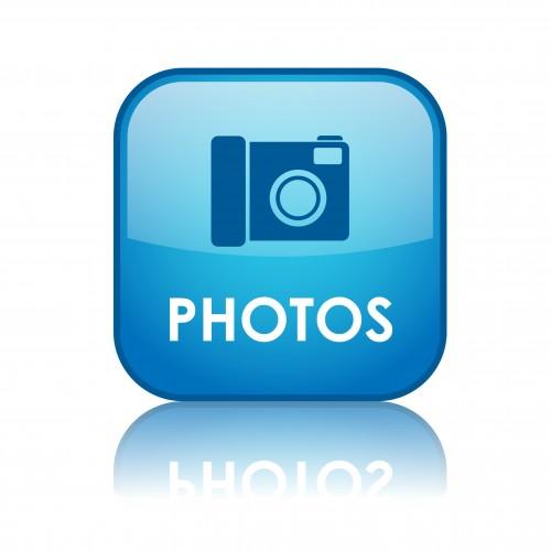 """PHOTOS"" Web Button (pictures art view share social media blog)"