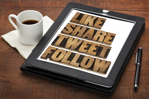 like, share, tweet and follow
