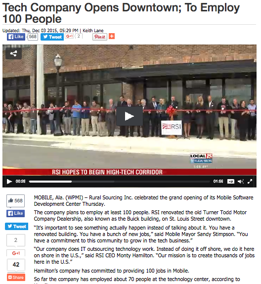 RSI Tech Company Opens Downtown 2