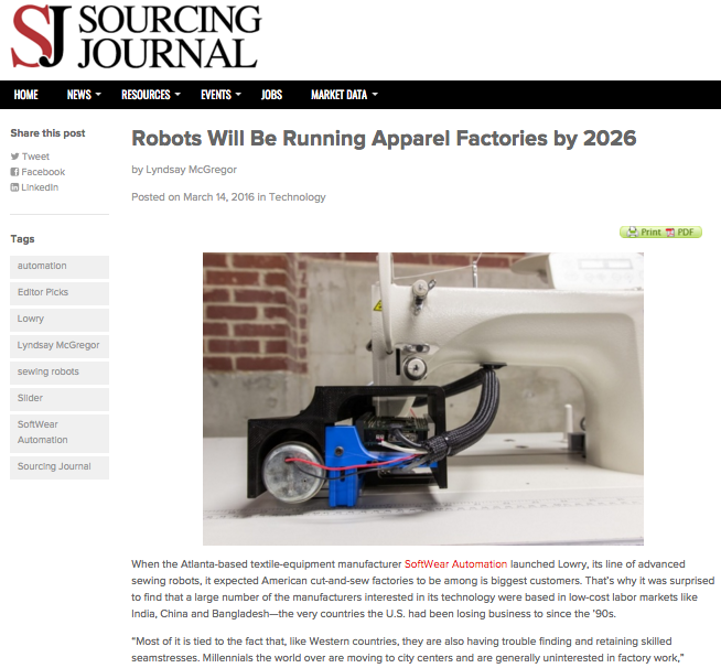 Sourcing Journal Robots Will Be Running Apparel Article