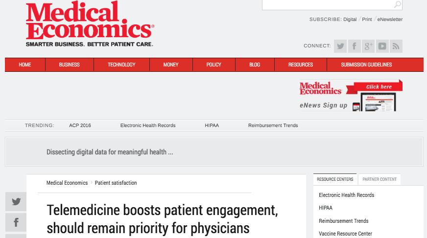 Medical Economics Article - Part 1