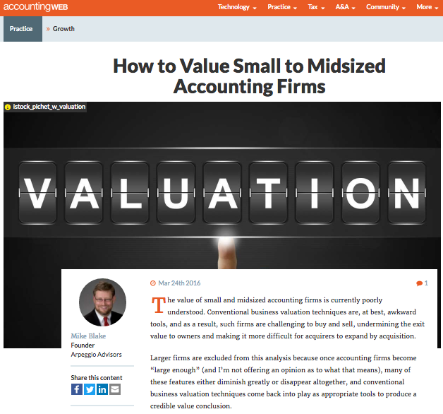 AccountingWEB How to Value - article