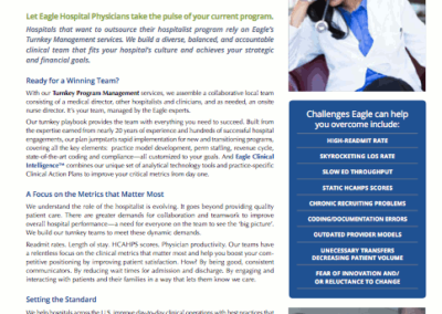 Eagle Hospital Physicians – Turnkey Program Management